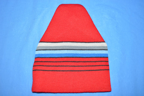 80s Lido Striped Winter Knit Skiing Beanie Hat
