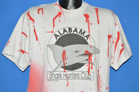 80s Alabama Shark Hunters Club Bloody Bite t-shirt Extra Large