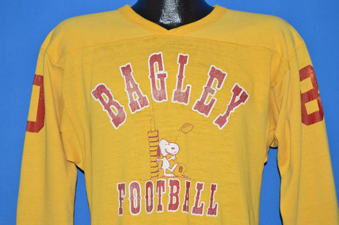 70s Bagley Football Snoopy Peanuts Jersey t-shirt Medium