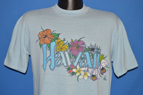 80s Hawaii Sunstrokes Hibiscus Flowers t-shirt Large