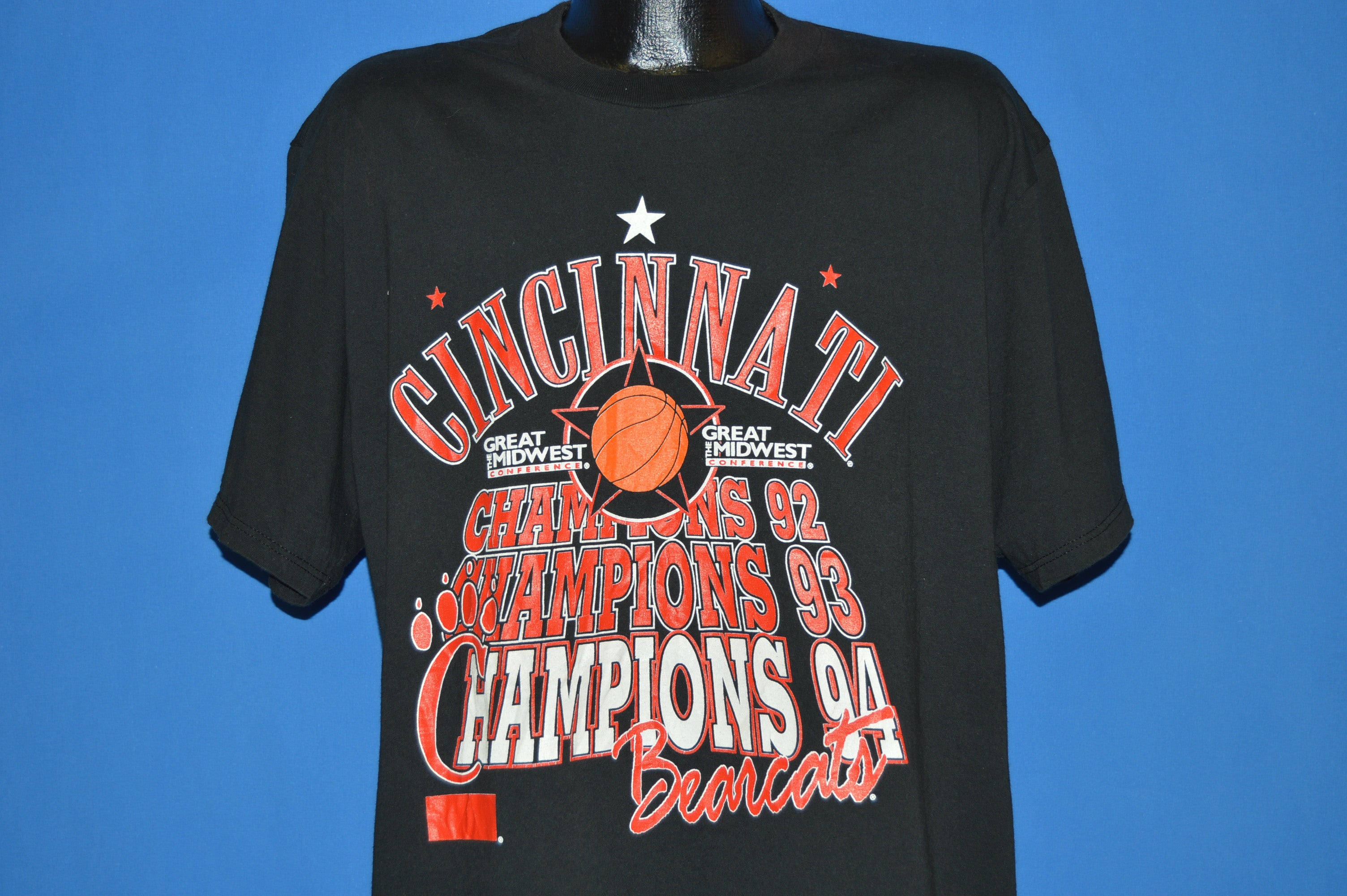 90s Cincinnati Bearcats Conference Champs 94 T Shirt Extra Large