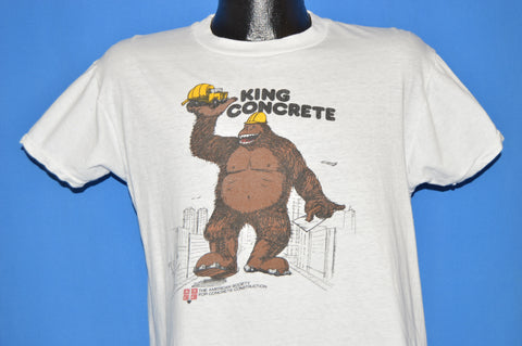 70s King Concrete American Construction Society t-shirt Large