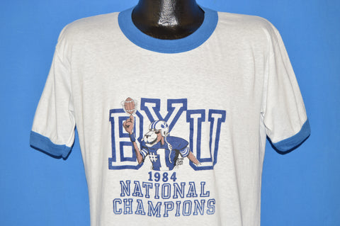 80s Brigham Young University 1984 NCAA Champs t-shirt Large