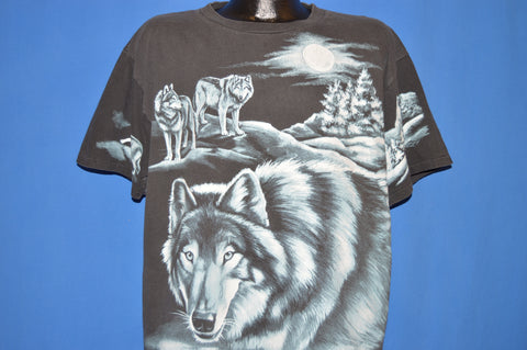 90s White Wolves Pack Full Moon t-shirt Extra Large