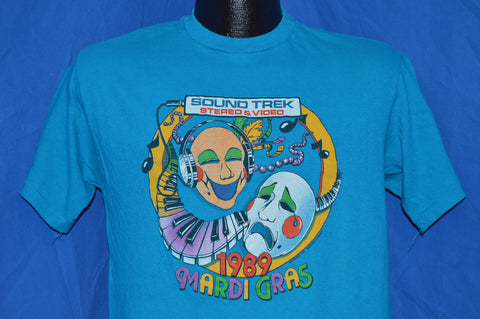 80s Mardi Gras Sound Trek Stereo Video Teal t-shirt Medium