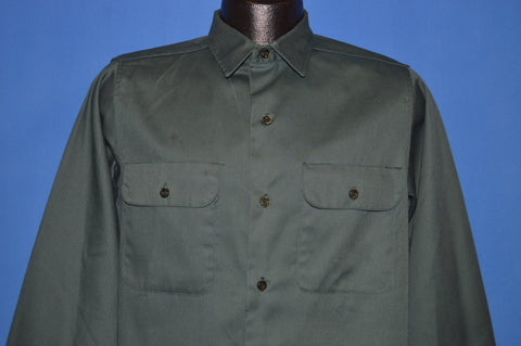 60s Big Yank Union Made Green Work Shirt Medium