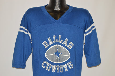 80s Dallas Cowboys Striped Football Jersey t-shirt Large