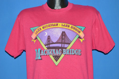 80s Mackinac Bridge Lake Michigan t-shirt Large