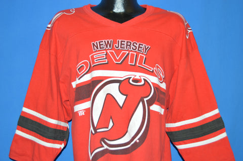 90s New Jersey Devils Logo Jersey t-shirt Large