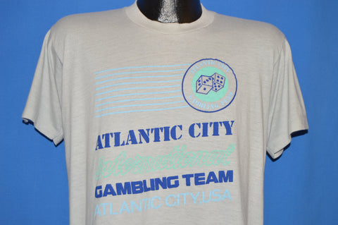 80s Atlantic City International Gambling Team t-shirt Large