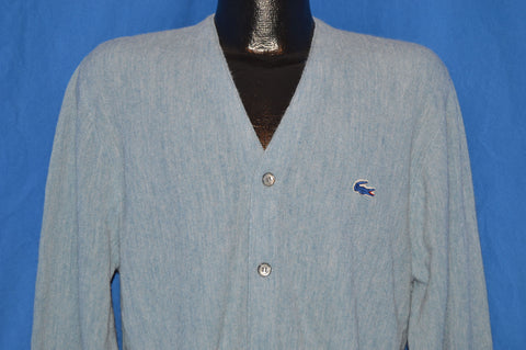 70s Izod Lacoste Heather Blue Sweater Large