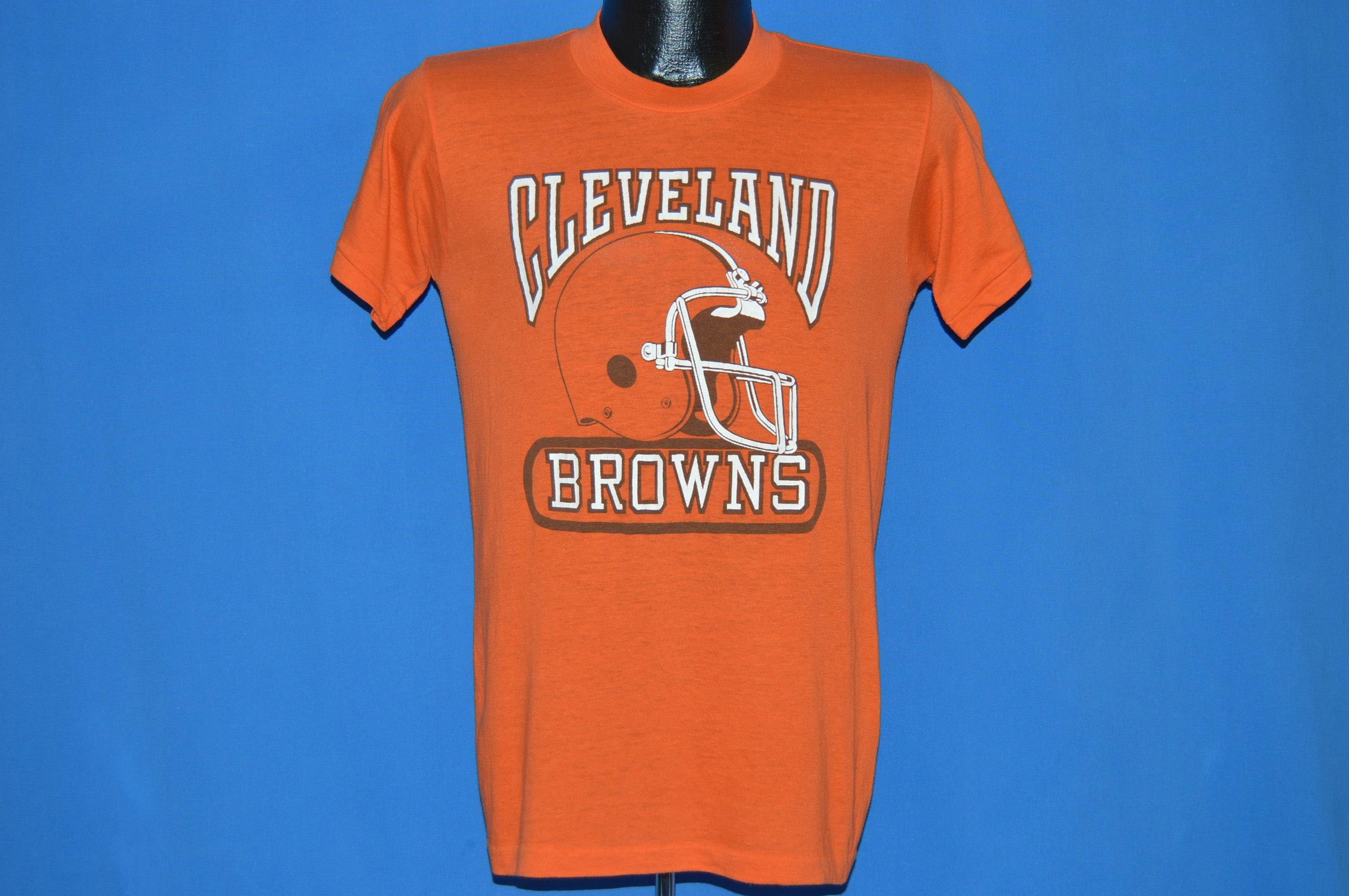 dea8aa8f 80s Cleveland Browns Helmet t-shirt Small - The Captains Vintage
