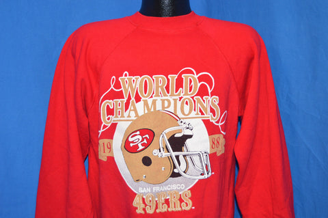 80s San Francisco 49ers 1988 Super Bowl Sweatshirt Large
