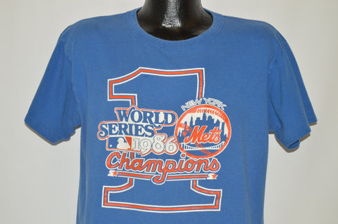 80s New York Mets 1986 World Series t-shirt Large