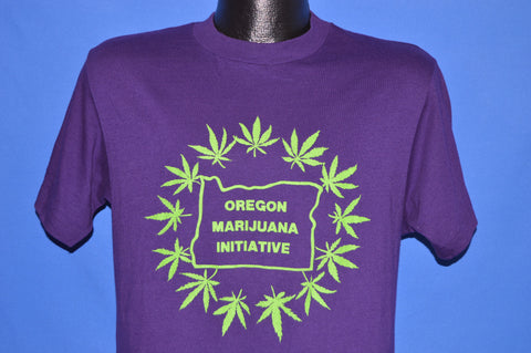 80s Oregon Marijuana Initiative Leaf t-shirt Medium