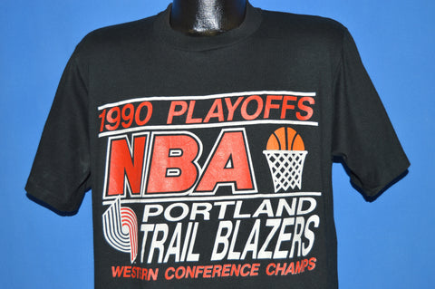 90s Portland Trail Blazers 1990 Playoff Champs t-shirt Large
