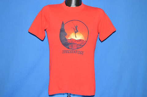 80s Breckenridge Colorado Sunset Skier t-shirt Small