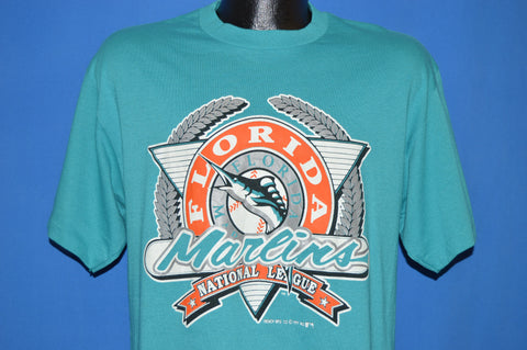 90s Florida Marlins Logo t-shirt Large