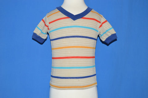 70s Garanimals Striped V-Neck Toddler t-shirt 2T