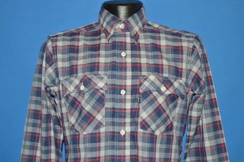 80s Levi's Blue Red Plaid shirt Small