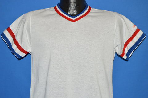 80s Wilson Red White Blue Ringer Jersey t-shirt Youth Large