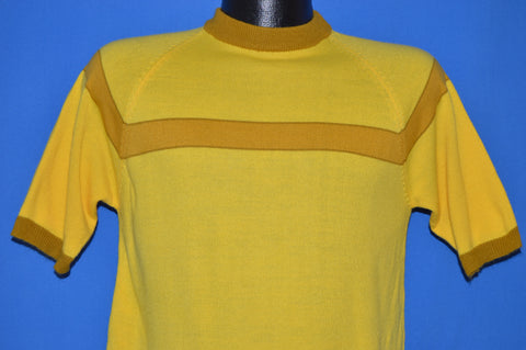 70s Sears Full Fashioned Yellow Acrylic t-shirt Medium