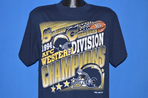 90s San Diego Chargers 1994 AFC Champions t-shirt Large