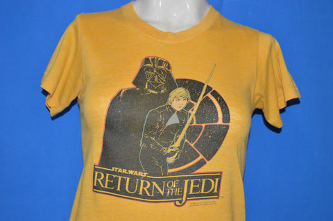 80s Star Wars Return Of The Jedi Luke And Vader t-shirt Extra Small