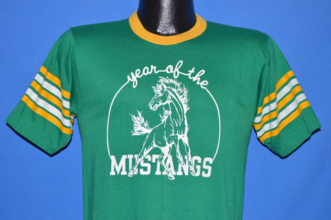 80s Year of the Mustangs Jersey t-shirt Medium