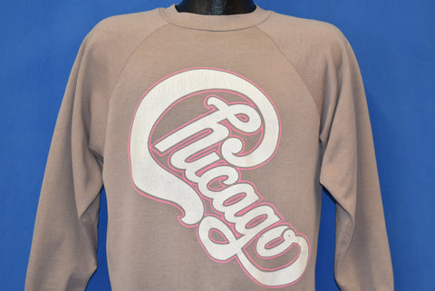 80s Chicago Band Logo Sweatshirt Large