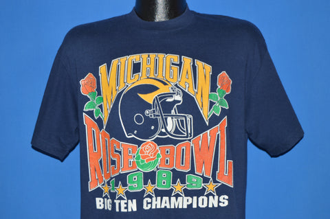 80s Michigan Wolverines Rose Bowl 1989 t-shirt Large