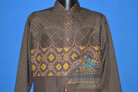 70s Landmark Rugs On A Bed Men's Disco Shirt Large