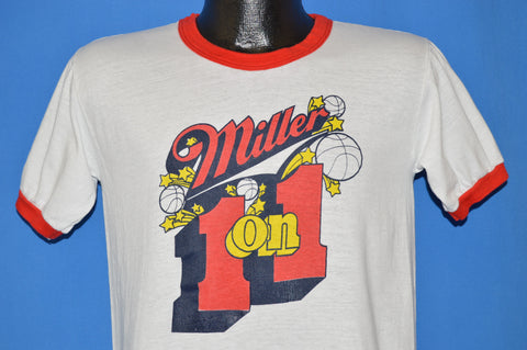 70s Miller Basketball Ringer t-shirt Medium