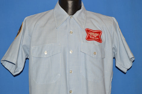 70s Miller High Life Beer Deliveryman Shirt Medium