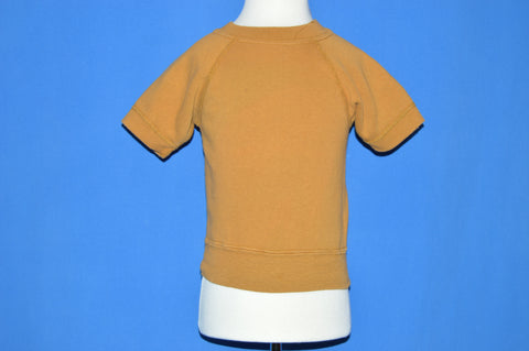 70s Blank Brown Raglan Short Sleeve Toddler Sweatshirt t-shirt 2T