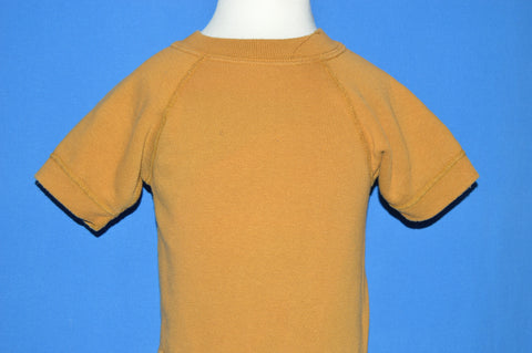 70s Blank Brown Raglan Short Sleeve Sweatshirt t-shirt 2T
