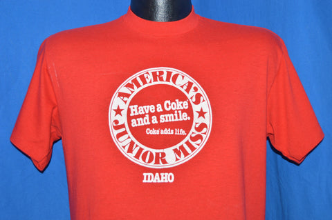 70s Have a Coke and Smile Junior Miss Idaho t-shirt Large