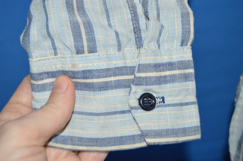 80s Levis Blue White Striped Pullover Tunic Shirt Large