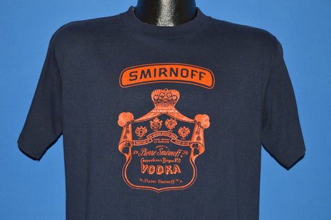 80s Smirnoff Vodka Label Leaves You Breathless t-shirt Large