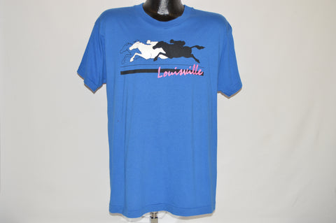 80s Louisville Kentucky Horse Racing t-shirt Large