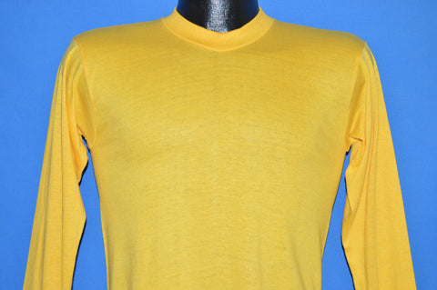 70s Blank Yellow Long Sleeve Deadstock t-shirt Small