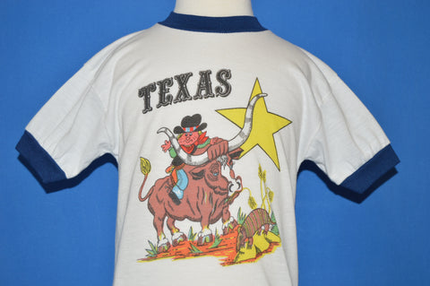 80s Texas Cowboy Ringer t-shirt Youth Small