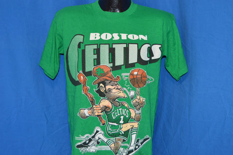 90s Boston Celtics Leprechaun Jack Davis Cartoon t-shirt Medium