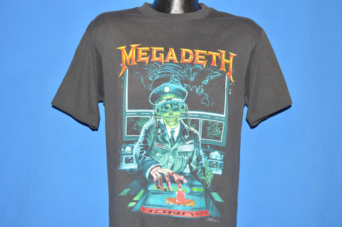 90s Megadeth Rust In Peace Tour 1990 t-shirt Large