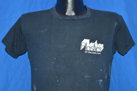 80s Plastics of Philadelphia Paint Distressed t-shirt Small