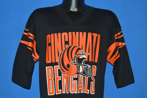 80s Cincinnati Bengals Tiger Striped Jersey t-shirt Large