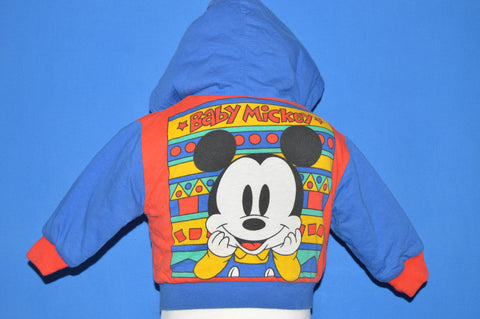 80s Mickey Mouse Reversible Jacket Baby 12-18 Months