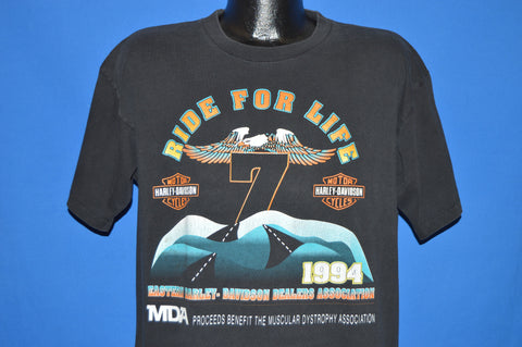 90s Harley Davidson Ride For Life t-shirt Large