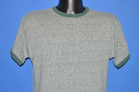 70s Green Heathered Ringer Champion Blue Bar t-shirt Large