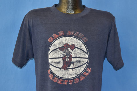 "80s University Of Mississippi ""Ole Miss"" Distressed t-shirt Medium"